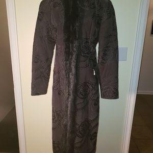 Stillman Studios Velvet Embroidered Dress Coat